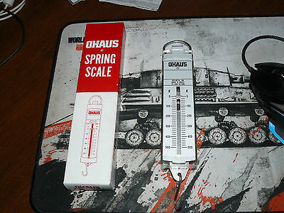 Ohaus Pull Type Spring Scale  0 - 500g new in box ships free USA only