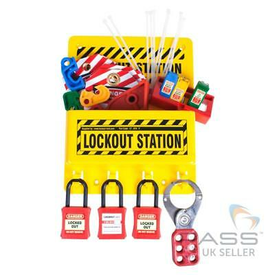 Compact Lockout Tagout Station 8 inch x 10 inch - With Accessories