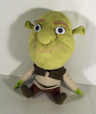 "9"" Big Head Shrek Soft Toy Headz Dreamworks Movie"
