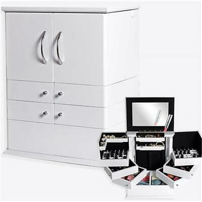 Kosmetikbox Beauty Case Make Up Box Spiegel 7 Fächern Schmuck Schmink Kästchen