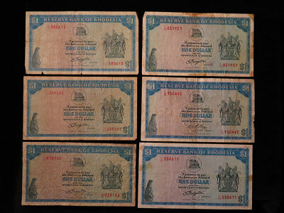 Collection of 39x Rhodesian Banknotes