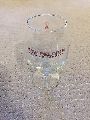 """NEW """"New Belgium Brewing Company"""" .47L Fat Tire Tulip Beer Glass (Have 11 Total)"""