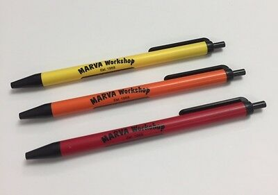 Personalized Click Pens (100) Your Choice of Colors - Excellent Promo Item!