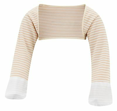 ScratchSleeves | Stay on Scratch mitts | Imperfects | Cappuccino Stripe | 3-6m