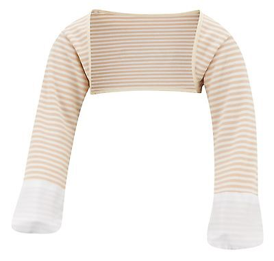 ScratchSleeves | Stay on Scratch mitts | Imperfects | Cappuccino Stripe | 6-9m