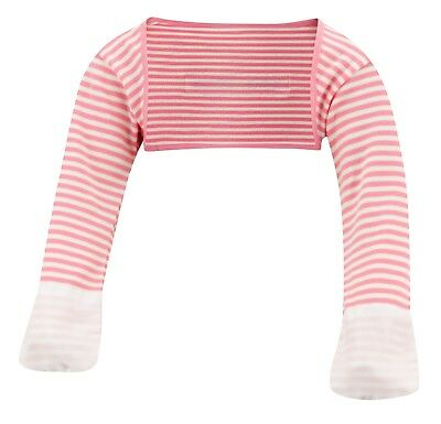 ScratchSleeves | Stay on Scratch mitts | Imperfects | Pink Stripe | 6-9m