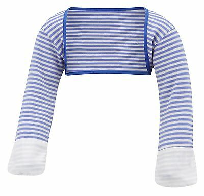ScratchSleeves | Stay on Scratch mitts | Imperfects | Blue Stripe | 9-12m