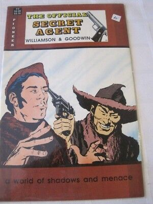 SECRET AGENT The Official Pioneer comic A World of Shadows & Menace 1988 No 5 NM