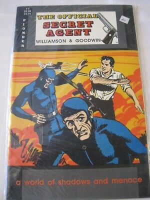 SECRET AGENT The Official Pioneer comic A World of Shadows & Menace 1988 No 2 NM