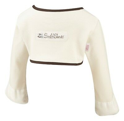 ScratchSleeves | Stay on Scratch mitts | Imperfects | Cream/chocolate | 9-12m