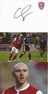 Rotherham * Conor Sammon Signed 6X4 Crestd White Card+2 Free Unsigned Photos+Coa