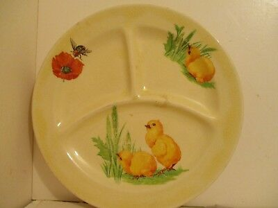 Cannonsburg Pottery Childs Dish Baby Chicks