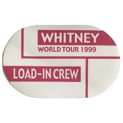 Whitney Houston authentic 1999 My Love is Your Love tour Backstage Pass load in
