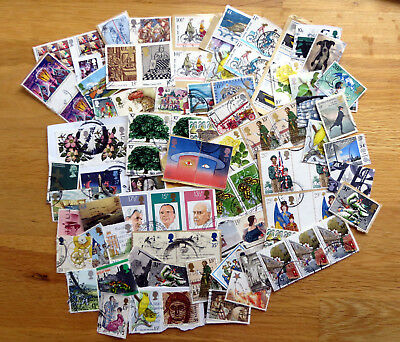 100 High Value GB Commemoratives.Used.1970's onwards.. Good condition.