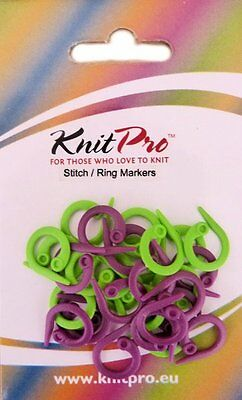 KnitPro Split Ring Plastic Stitch Markers Pack of 30