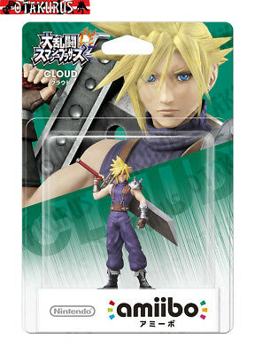 Cloud Amiibo Super Smash Bros Series Nintendo Wii U, New 3DS, Switch Japan
