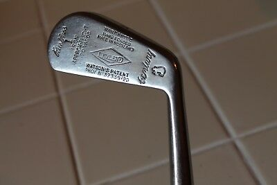 Antique Leyland Century Rustless 1 Iron Golf Club  Hand Forged Painted Shaft VG