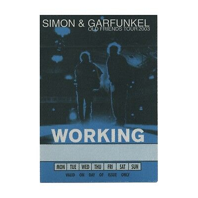 Simon & Garfunkel authentic 2003 Old Friends tour satin cloth Backstage Pass