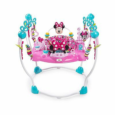 PINK MINNIE MOUSE ACTIVITY CENTER JUMPER Disney Infant Baby Toddler Fun Play NEW