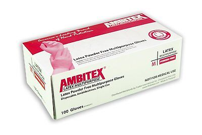 Ambitex LLG5201 L, PK100 Disposable Gloves, Latex, Cream Pack of 100