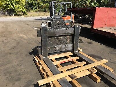 Forklift Rotator Attachment Class 4  Long Reach  With 72 Inch Forks