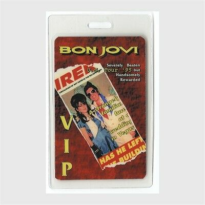 Bon Jovi authentic 1995 concert Laminated Backstage Pass These Days Tour VIP red