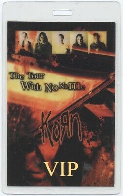 Korn authentic 2002 concert Laminated Backstage Pass Tour With No Name VIP