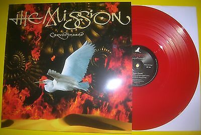 The Mission - CARVED IN SAND 2017 ltd red vinyl LP album 757/1000  NEW UNPLAYED