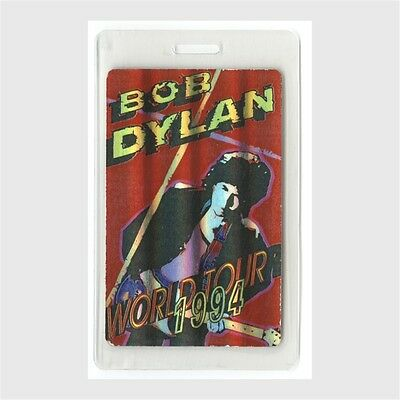 Bob Dylan authentic 1994 concert tour Laminated Backstage Pass Red Otto foil