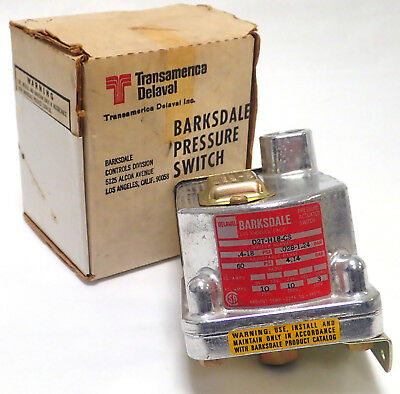 Barksdale D2T-H18-Cs Pressure Actuated Switch 10 Amps @ 125/250 Vac