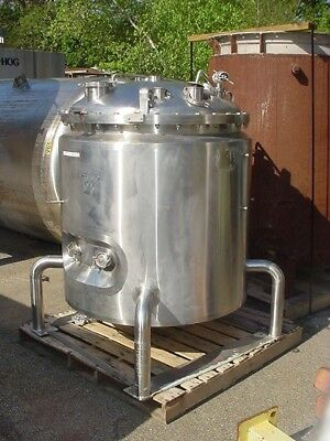 132 GALLON 500 LITER 316L STAINLESS STEEL jacketed REACTOR__ REDUCED_SALE