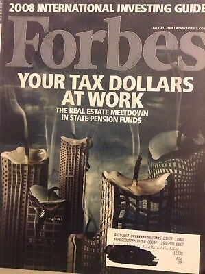 Forbes Magazine Your Tax Dollars At Work July 21, 2008 091317nonrh