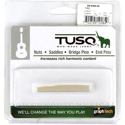 "Graph Tech Tusq Taylor Acoustic Guitar Saddle 1/8"" Compensated *new* Pq-9200-C0"