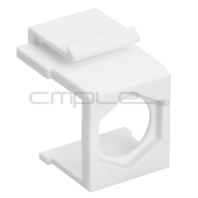 10x Blank Insert for F Type Connector Fits Keystone Wall Plate White