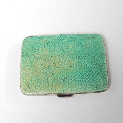 Vintage Mappin & Webb Sterling Silver And Shagreen Card Case