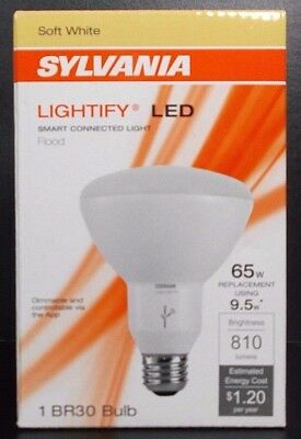 Sylvania Osram Lightify Smart Home 65W BR30 Soft White LED Flood Light Dimmable