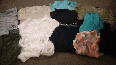 Womans size 16 & 18 clothes bundle of jeans dresses tops jacket used