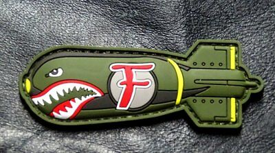 Dropping F Bomb WW 2 Style Tactical morale Patch (HOOK-3D PVC Rubber-MTB1)