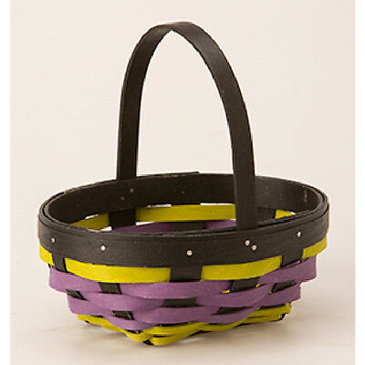 Longaberger 2016 Halloween Whatnots Booking basket & prot Black Purple Green NIH