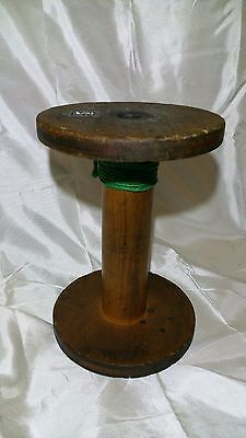 Antique Wooden Yarn Spool: Large: Great Display Value & Appealing Patina !!