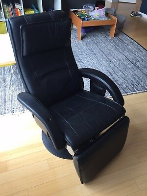 Nelo Sweden leather recliner swivel chair  NY NJ PICK UP ONLY