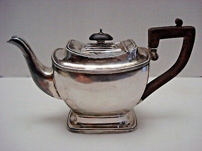 Antique English Sterling Teapot 1912 Silversmith Harrison Fisher