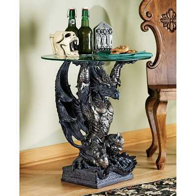 Design Toscano Hastings the Warrior Dragon Sculptural End Table CL3941 Novelty