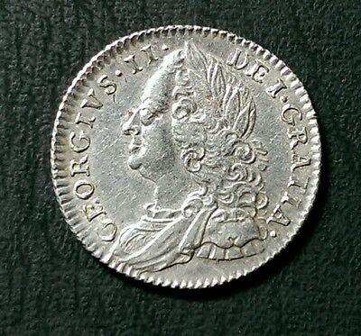 1758 George Ii British Silver Sixpence