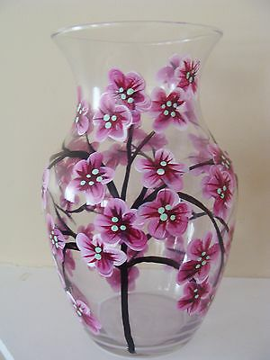 Cherry Blossom Vase, pink cherry blossoms, asian, romantic, gift for her