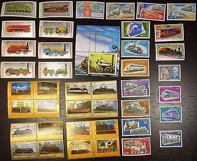 Collection, Trains, Railroad, MNH (24)