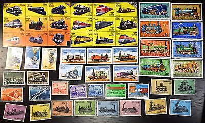 Collection, Trains, Railroad, MNH (13)