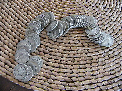 $10.00  Face Value Mercury & Roosevelt Dimes 90% Silver  Lot Of 100 Coins