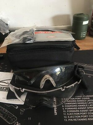ESS ICE 2.4 Eye Shield Spectacle W/ 2 Clear Lens Goggles Safety- USED-