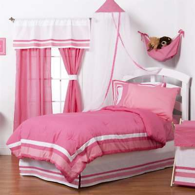 One Grace Place Simplicity Hot Pink 4-Piece Full Bedding Set 10-18hp122
